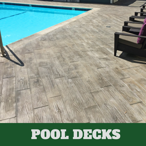 Wood Patio With Pool With Picture Of Pool With Concrete Stamped Wood Grain Stamped Concrete Patio Cost Company Pool Decks Grand