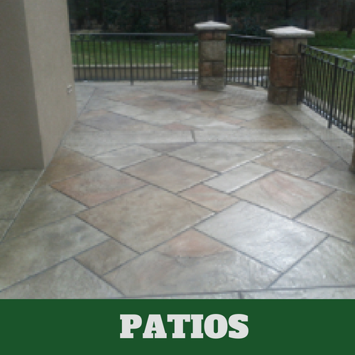 Picture of a stamped patio in Grand Rapids, Michigan.